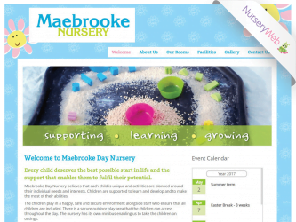NurseryWeb - Maebrooke Day Nursery Website Design