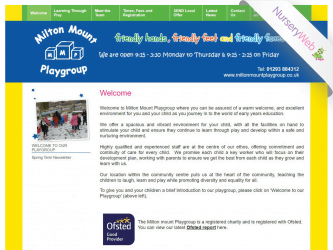 NurseryWeb - Milton Mount Playgroup Website Design