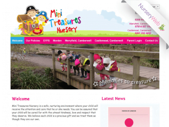 NurseryWeb - Mini Treasures Nursery Website design