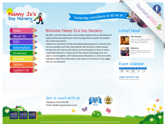 NurseryWeb - Nanny Jo's Day Nursery Website Design