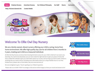 NurseryWeb - Ollie Owl Day Nursery Website Design