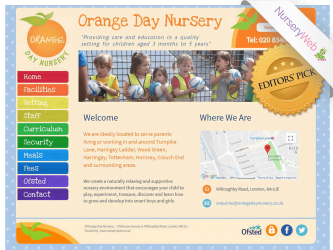 NurseryWeb - Orange Day Nursery Website Design