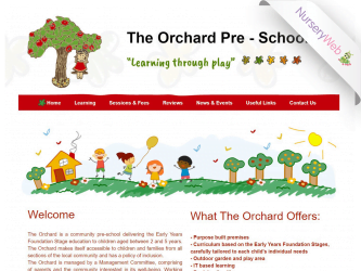 NurseryWeb - The Orchard Pre-School Website Design