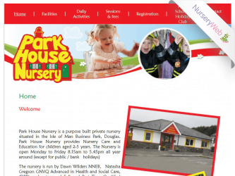 NurseryWeb - Park House Nursery Website design