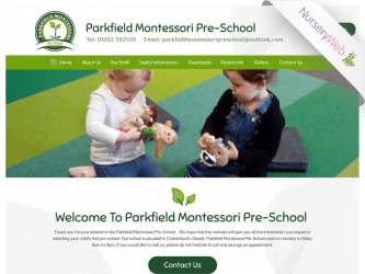 NurseryWeb - Parkfield Montessori Pre-School Website Design