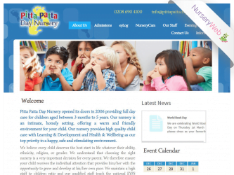 NurseryWeb - Pitta Pitta Day Nursery Website Design