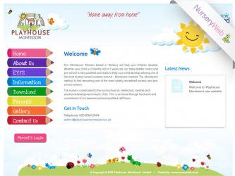 NurseryWeb - Playhouse Montessori Website Design