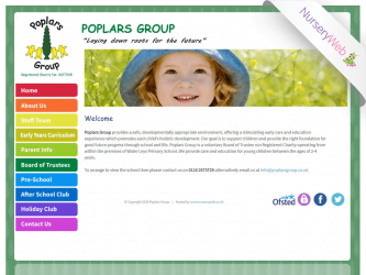 NurseryWeb - Poplard Ground Pre-School Website Design