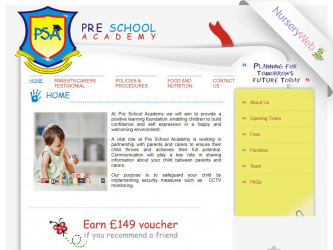 NurseryWeb - Pre School Academy Website Design