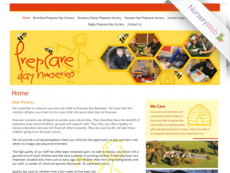 NurseryWeb - Prepcare Day Nurseries Website Design