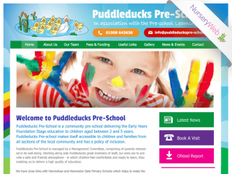 NurseryWeb - Puddleducks Pre-School Website Design