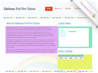 NurseryWeb - Rainbow End Pre-School Website Design