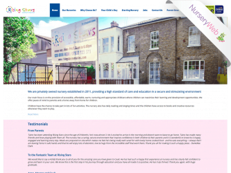 NurseryWeb - Rising Stars Daycare Website Design
