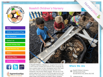 NurseryWeb - Rosehill Children's Nursery Website Design
