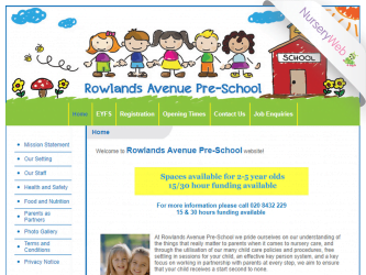 NurseryWeb - Rowlands Avenue Pre-school Website Design