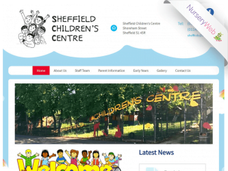 NurseryWeb - Sheffield Children's Centre Website Design