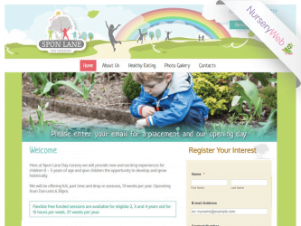 NurseryWeb - Sponlane Nursery Website Design