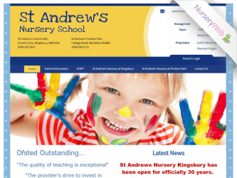 NurseryWeb - St Andrew's Nursery School Website Design