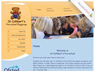 NurseryWeb - St Cuthbert's Pre-School Playgroup Website Design
