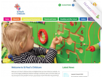 NurseryWeb - St Paul's Childcare Website Design