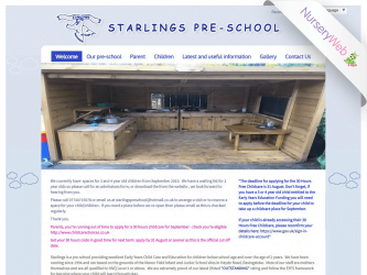 NurseryWeb - Starlings Pre-School Website Design