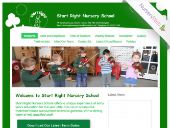 NurseryWeb - start Right Nursery School Website Design