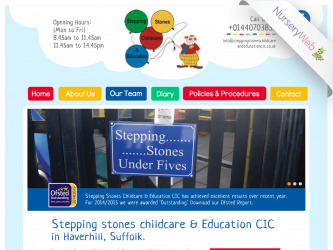 NurseryWeb - Stepping Stones Childcare & Education CIC Website Design