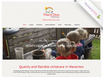 NurseryWeb - Stepping stones Montessori Nursery & Pre-School Website Design