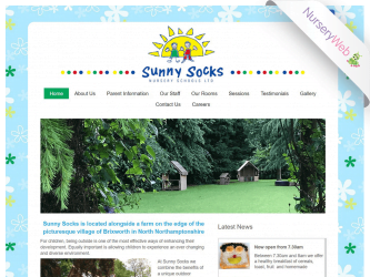 NurseryWeb - Sunny Socks Nursery School Website Design