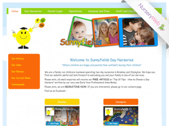 NurseryWeb - Sunnyfields Day Nursery Website Design