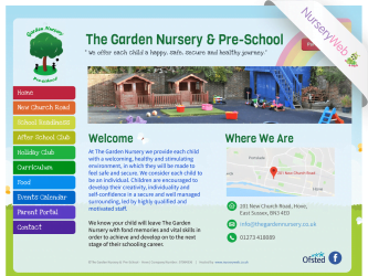 NurseryWeb - The Garden Nursery & Pre-School Website Design