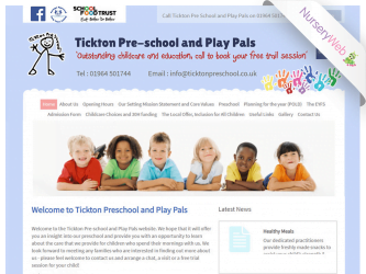 NurseryWeb - Tickton Pre-School & Pay Pals Website Design