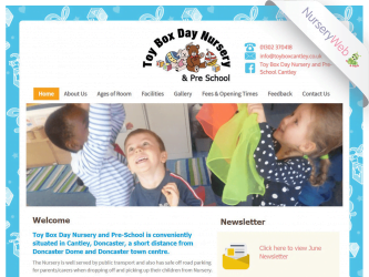 NurseryWeb - Toy Box day Nursery & Pre-School Website Design