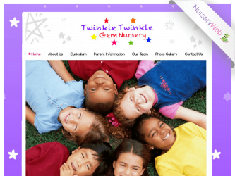 NurseryWeb - Twinkle Twinkle Gem Nnursery Website Design