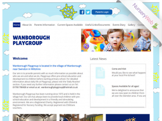 NurseryWeb - Wanborough Playgroup Website Design