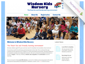 NurseryWeb - Wisdom Kids Nursery Website Design