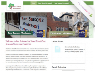 NurseryWeb - Wood Street Montessori Website Design